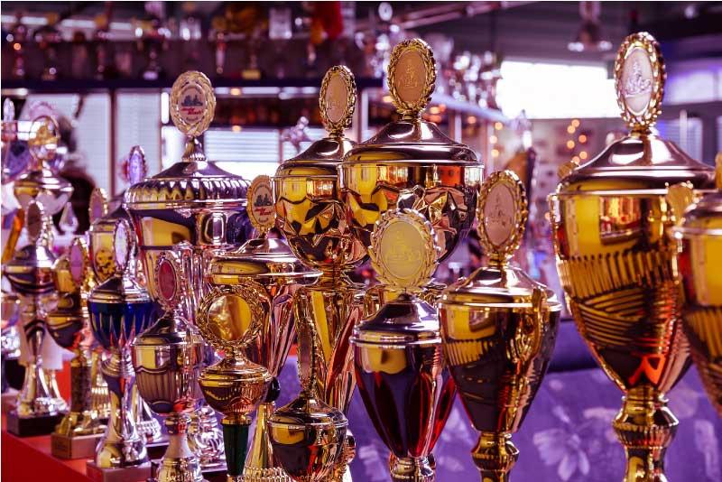 Foto vieler Pokale