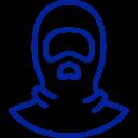 Icon mit Abbildung einer Sturmhaube